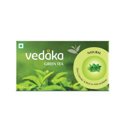 Amazon Brand - Vedaka Green Tea, Natural , 25 Bags