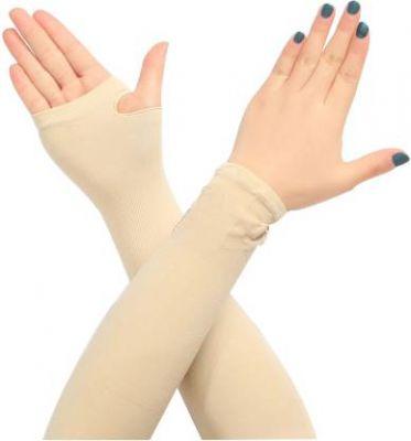 NIKROKZ Nylon, Cotton Arm Sleeve For Men & Women