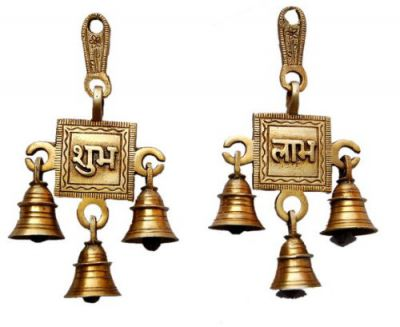 Two Moustaches Brass Shubh Labh Hanging Bells
