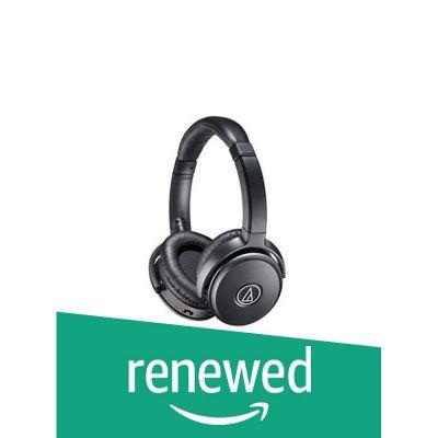 (Renewed) Audio-Technica Quiet Point ATH-ANC50IS Active Noise-Cancelling Headphones (Black)