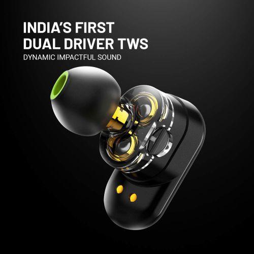 CrossBeats Elektra 2019 Latest Dual Driver True Wireless in-Ear Earbuds Earphones Headphones