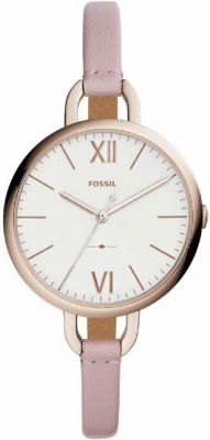 Fossil ES4356 Annette Three-Hand Pastel Pink Leather Watch Analog Watch - For Women