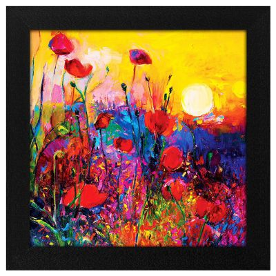 Story@Home Synthetic Wood Framed Nature Scenary Design 'Blooming Sunrise' Modern Wall Art Painting for Decorating Living Room, Bedroom, Drawing Room, Hall Ready to Hang