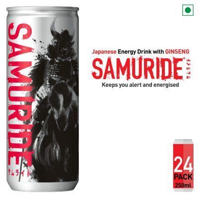 SAMURIDE Ginseng Based Energy Drink - Pack of 24, x 250 ml