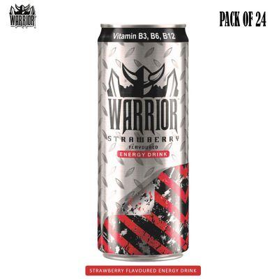 Warrior Energy Drink Strawberry, 24 x 330 ml
