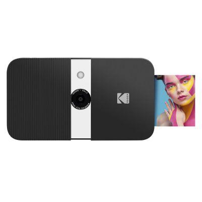 KODAK Smile Instant Print Digital Camera - Slide-Open 10MP Camera w/2x3 Zink Paper, Screen, Fixed Focus, Auto Flash & Photo Editing - Black/White