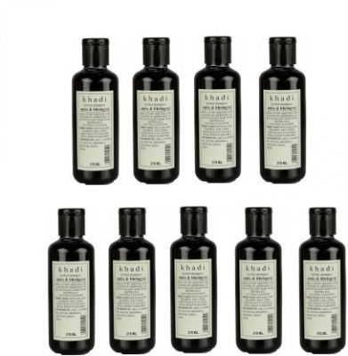 Khadi Amla Bhringraj Shampoo (210 ml) Pack of 9  (210 ml)