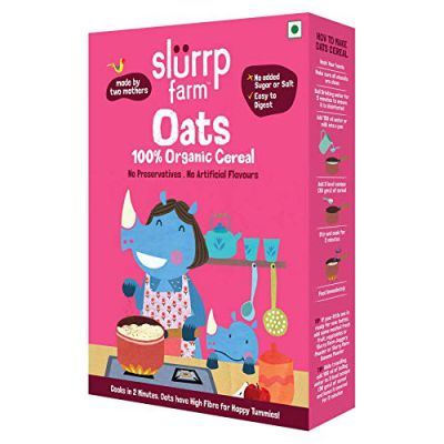 Slurrp Farm Organic Cereal | Oats | Instant Healthy Wholesome Food for Babies, 250 g