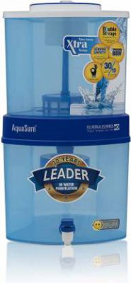 Eureka Forbes Aquasure Xtra Tuff EOL 15 L Gravity Based Water Purifier (White, Blue)