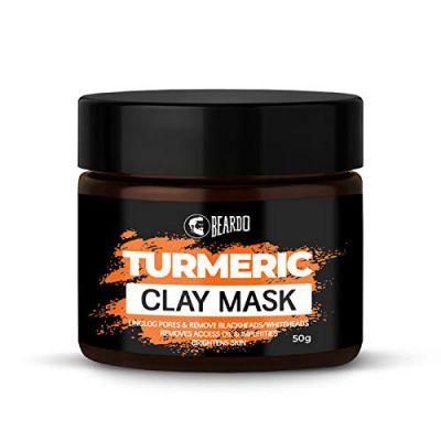 Beardo Turmeric Clay Mask For Men, 50 gm