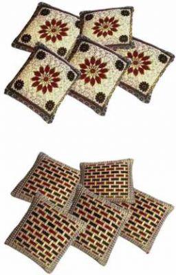 Villas Decor Floral Cushions Cover  (Pack of 10, 41 cm, Multicolor)