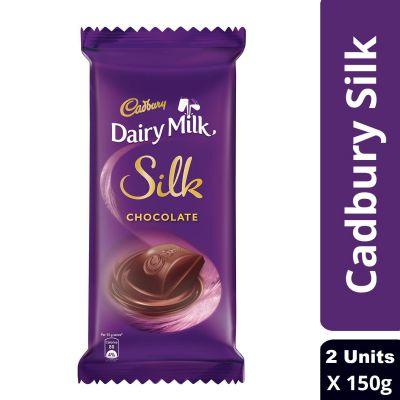 Cadbury Dairy Milk Silk Chocolate Bar, 2 x 150 g