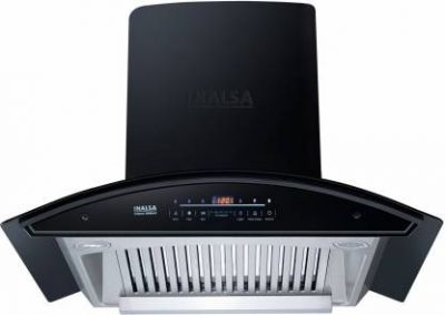 Inalsa Trident 60BKAC Auto Clean Wall Mounted Chimney (Black 1250 CMH)