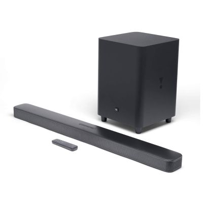 JBL Bar 5.1 Channel soundbar with MultiBeam Sound Technology (550 Watts, Black)