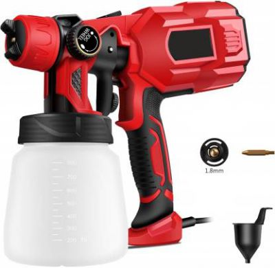Buildskill Pro Latest Heavy Duty 750W with Copper Nozzle DIY Home Professional BPS2100 HVLP Sprayer (Red)