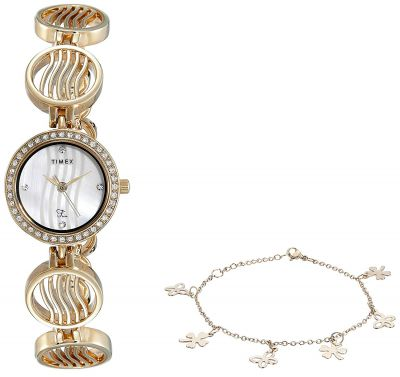 Timex Fria Analog Mother of Pearl Dial Women's Watch - TWEL12301T