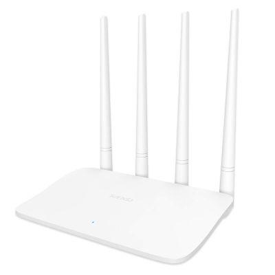 Tenda F6 V4.0 Wireless N300, 4X5dBi Antennas, Easy Setup Router (White, Not a Modem)