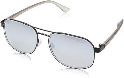 Pepe Jeans Polarized Aviator Unisex Sunglasses (PJ5127C1P_Matt Black)