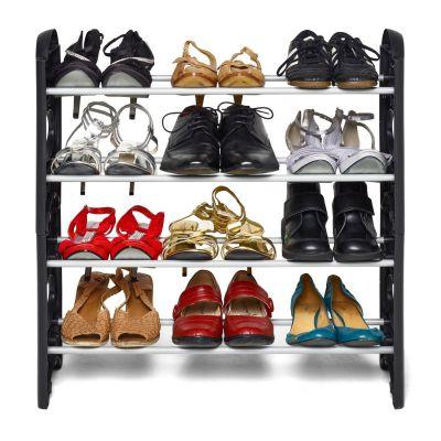 Ebee Easy To Assemble & Light Weight Foldable 4 Shelves Shoe Rack