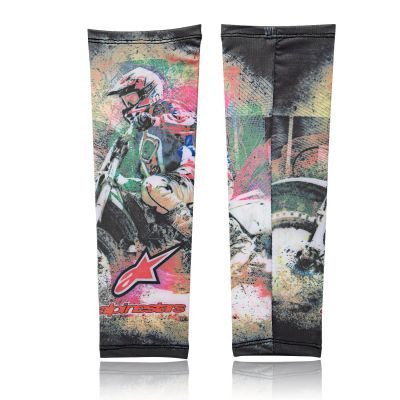 Zoook Moto69 Designer Anti Pollution Arm Sleeves (Set of 2, Green)