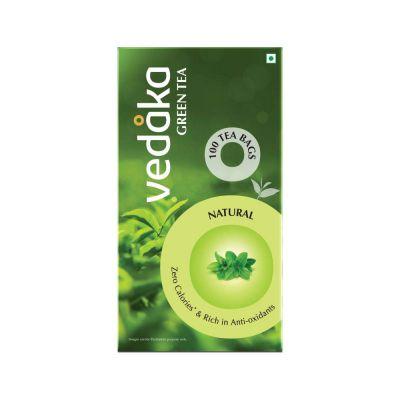 Amazon Brand Vedaka Green Tea, Natural, 100 Bags