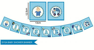 SYGA ITS A Boy Baby Shower Party Decorative Banner
