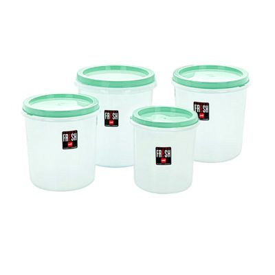 Cello Store Fresh Plastic Container Set, 4-Pieces, Green