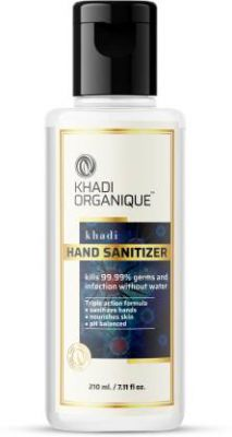 Khadi Organique Hand Sanitizer kills 99.99% germs and infection without water (210 ml)