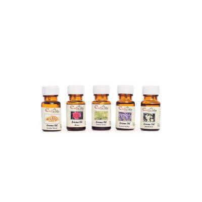 eCraftIndia Set of 5 10ML High Quality Aroma Oil in 5 Fragnances (Rose, Jasmine, Lavender, Lemon grass and sandalwood fragrance - Total 50 ML)