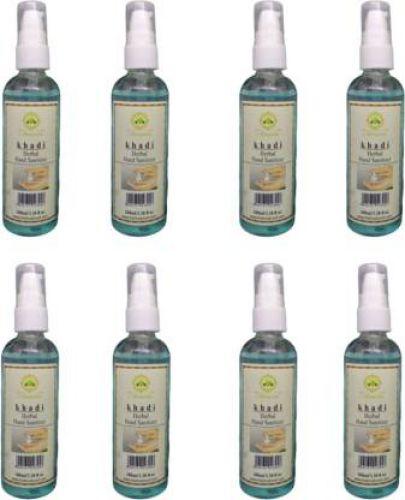 Khadi Hand Sanitizer - Pack of 8 (800ml) Pump Dispenser (8 x 100 ml)