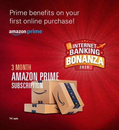 Free Amazon Prime Membership on Making Rs.500 Internet Banking Transaction on ICICI