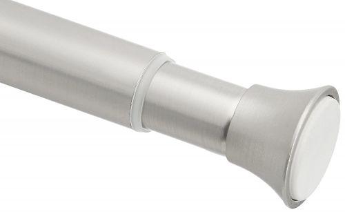 AmazonBasics Shower Adjustable -Length Curtain Tension Rod - 54-90