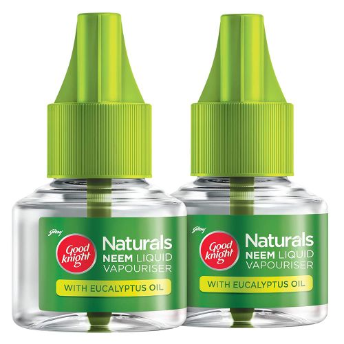 Goodknight Naturals – Neem Mosquito Repellent with 100% Natural Active Ingredients (Safe for Kids and Adults), Pack of 2 Refills
