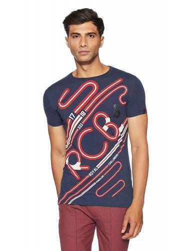 Status Quo Men's Printed Slim Fit T-Shirt