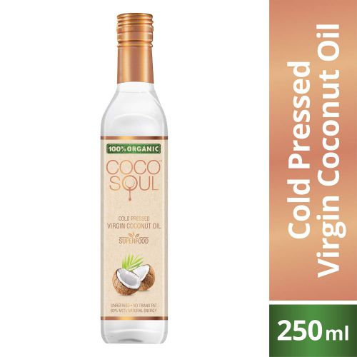 Coco Soul Cold Pressed Organic Virgin Coconut Oil, 250 ml
