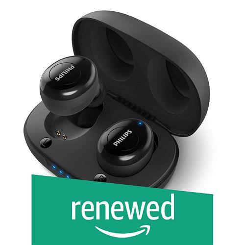 (Renewed) Philips UpBeat TAUT102BK True Wireless (TWS) Bluetooth Earbuds with Voice Assistant (Black)