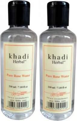 Khadi Herbal Pure Rose Water skin toner pack of 2 (420 ml)