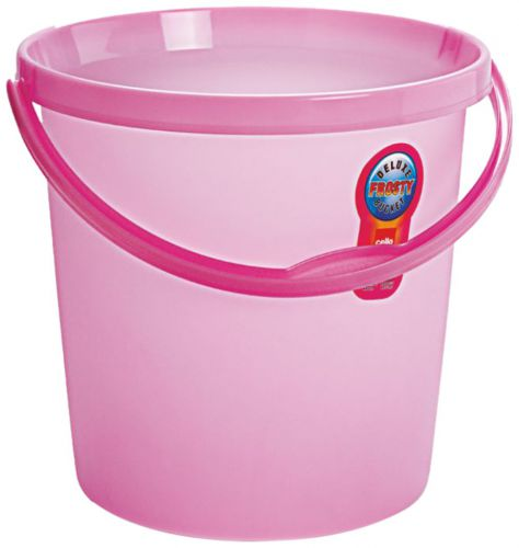Cello Plastic Frosty Bucket Delux , Pink, 18 Litre