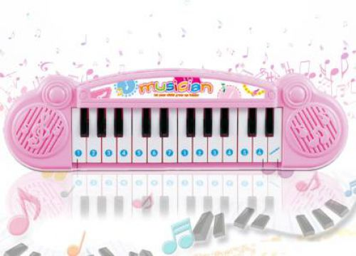 Miss & Chief Mini Muscial Keyboard with 24 Keys for Kids (Pink)