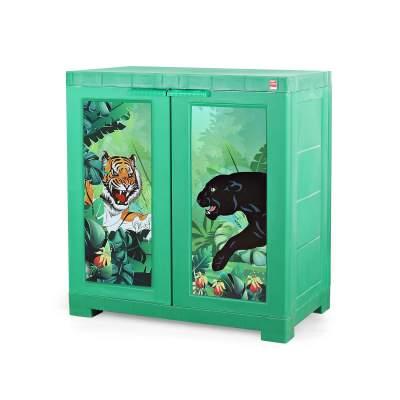 Cello Novelty Compact Cupboard- Jungle Green