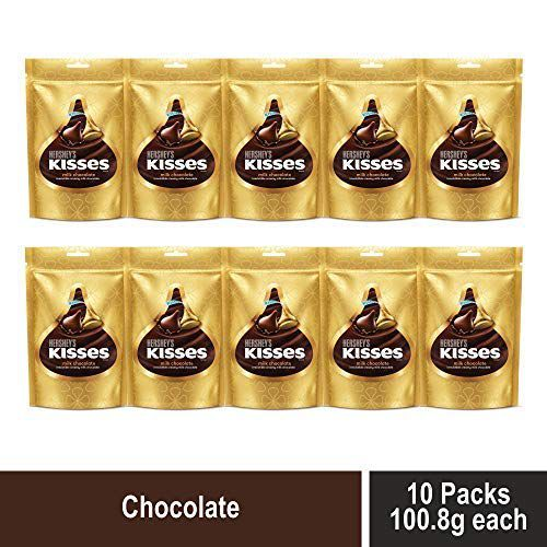 Kisses Hersheys Milk Chocolate Pouch, 12 X 108 g