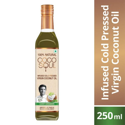 Coco Soul Curry Coriander Infused Oil Bottle, 250 ml