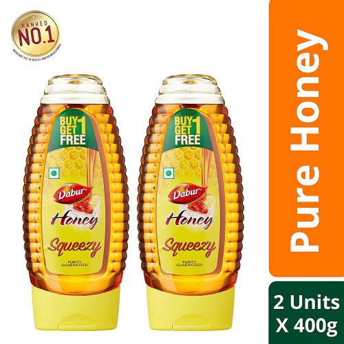 Dabur Honey Squeezy - India's No.1 Honey - 400 g (Buy 1 Get 1 Free)