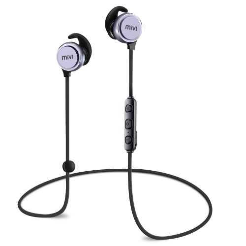 Mivi ThunderBeats Bluetooth Earphones Wireless with Mic, HD Sound, Powerful Bass, Long Battery Life. Bluetooth Headset with Magnetic Buds and Sweat Proof