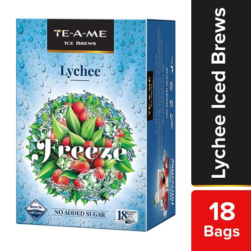 TE-A-ME Ice Brews Cold Brew Ice Infusion, Lychee, 18 Pyramid Infusion Bags