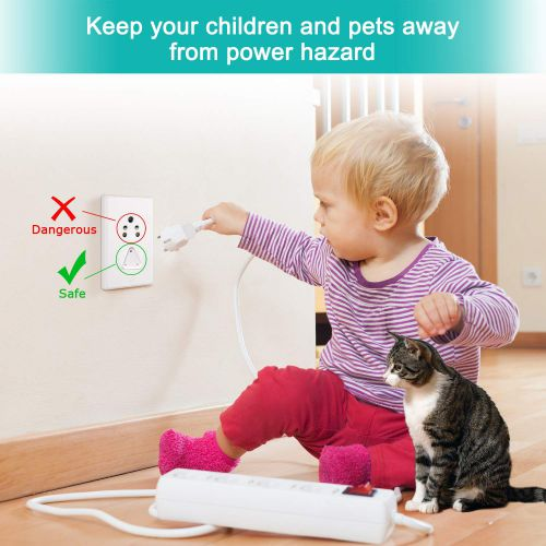 PARADOX (LABEL) Baby Safety Electric Socket Plug Cover Guards (Set of 12), White
