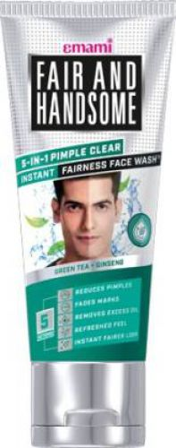Fair and Handsome 5-in-1 Pimple Clear Instant Fairness Face Wash (100 g)
