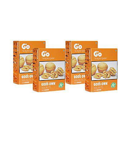 GO Organic Light Broken Walnuts (Without Shell) 1Kg (250gm x 4)