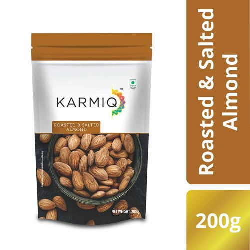 Karmiq Roasted & Salted Almonds, 200g
