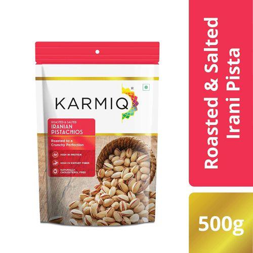 Karmiq Roasted & Salted Irani Pista, 500g